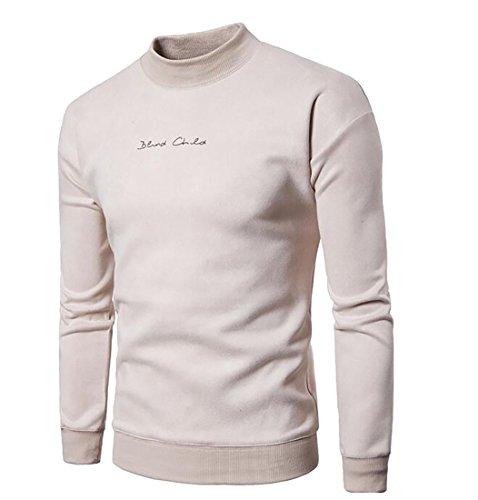 Sleeve Long Sweatshirts Men 1 UK Casual Warm Neck Mock Velvet Pullover today wqOX7fxYp