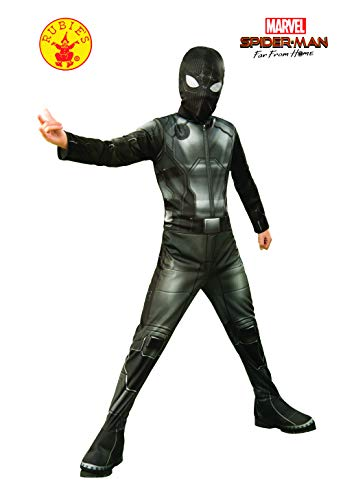 Rubie's Marvel Spider-Man Far from Home Child's Spider-Man Stealth Costume & Mask, Medium Black/Gray