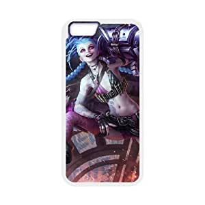 iPhone 6 4.7 Inch Cell Phone Case White League of legends Jinx Custom KHJSFNUJF6323