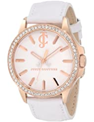 Juicy Couture Womens 1900968 Jetsetter White Leather Strap Watch
