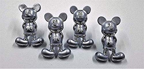 Zinc Alloy Set of 4 Mickey Mouse Drawer Pulls - Silver