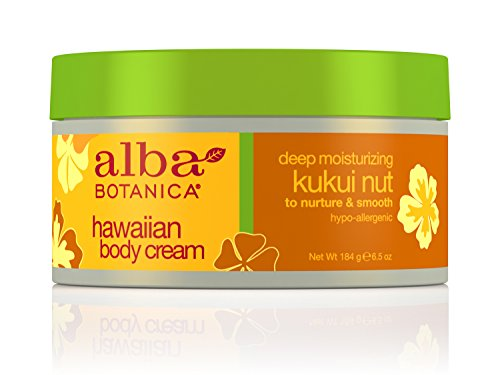 Alba Botanica Hawaiian, Kukui Nut Body Cream, 6.5 Ounce