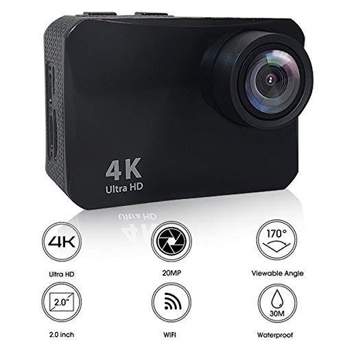 Heegomn Sports Camera 16MP 2.0'' LCD WiFi Waterproof Cam with 170 Degree Ultra Wide Angle Lens [並行輸入品] B07H5G3S8X