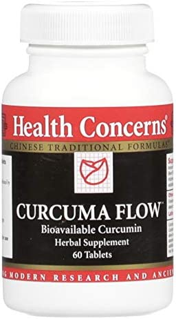 Health Concerns – Curcuma Flow – Bioavailable Turmeric Chinese Herbal Supplement – Joint Pain Relief and Mobility Support – with Turmeric Rhizome – 60 Count