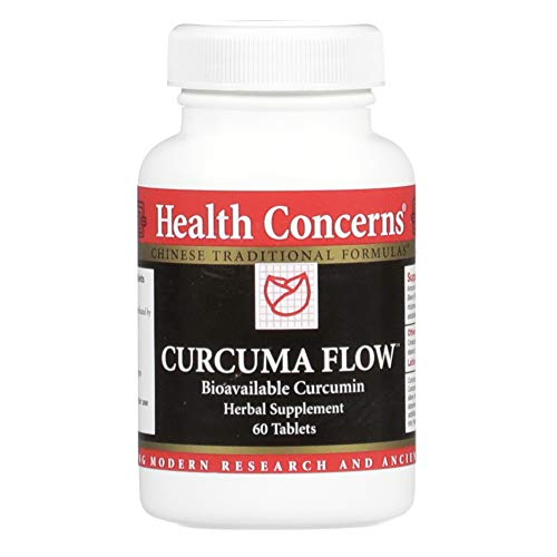 Health Concerns – Curcuma Flow – Bioavailable Turmeric Chinese Herbal Supplement – Joint Pain Relief and Mobility Support – with Turmeric Rhizome – 60 Tablets per Bottle