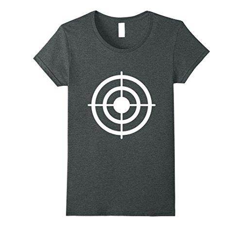 Womens Funny Bullseye Paper Target Halloween Costume T-Shirt Medium Dark (Target Costumes Halloween)