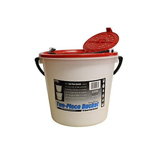 10 Qt Bait Bucket (Challenge 50165 10 Quart Bait Bucket-2 Piece,)