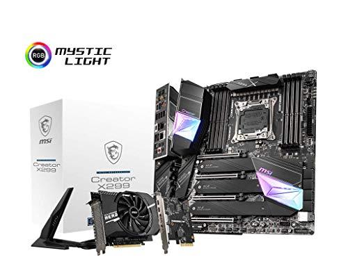 MSI Gaming Intel X299 LGA 2066 Thunderbolt M3 Wi-Fi 6 10G LAN DDR4 USB3.2 Gen 2 SLI CFX Extended ATX Motherboard (Creator X299)