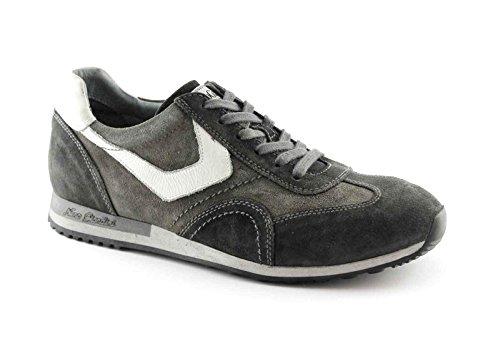 Nero Giardini 4471 Grigio Pietra Scarpe Uomo Sneaker Sportive Lacci Grigio