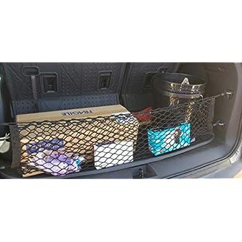 eAccessoriesUSA Rear Trunk Space Area Black Vertical Envelope Style Storage Organizer Web Mesh Luggage Bungee Compartment Cargo Net Red De Carga Del Maletero Trasero for Toyota Highlander 2014-2020