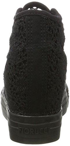 Fiorucci Fepe024, Zapatillas Altas para Mujer Negro (Nero)