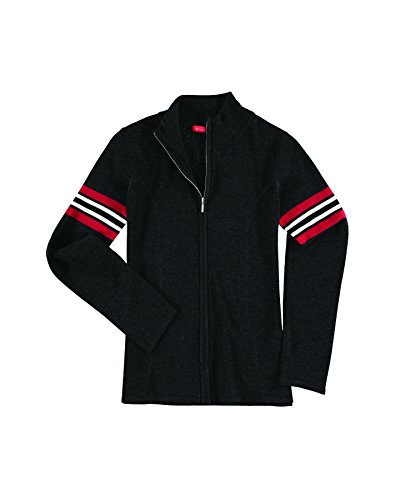 Krimson Klover Bette Full Zip Pullover Merino Wool Sweater - (Black, Small) -