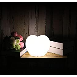 Led Color Remote Control Plastic Reading Lamp Heart-Shaped Lamp Table Lamp Charging Table Lamp Bedside Lamp