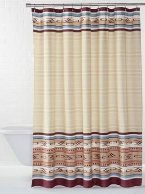 Pendleton Embroidered Chimayo Shower Curtain Ivory One Size