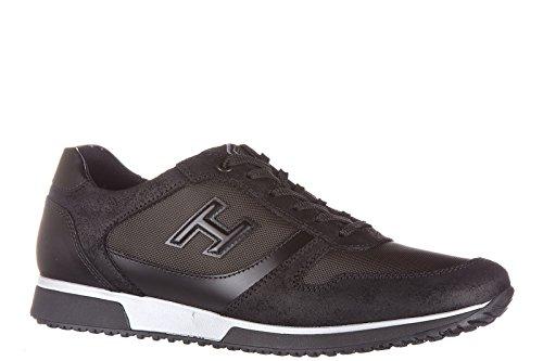 Hogan chaussures baskets sneakers homme en cuir h198 noir