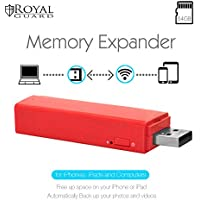 Royal Guard WiFi Memory Expander V1 with 64GB SD Card, Red