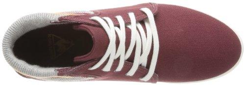 Zapatillas Le Coq Sportif Retro Rojo tela de para COQ Rouge Bordeaux 1310744 mujer wqACq1B