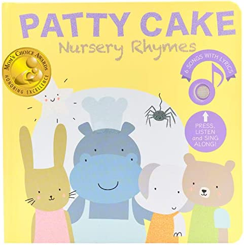 CALI'S BOOKS- PATTY CAKE AND FAVORITES NURSERY RHYMES (MOM'S CHOICE AWARD WINNER) SOUND BOOK - BEST INTERACTIVE AND EDUCATIONAL GIFT FOR BABY, TODDLER 1-3 AND 2-4 YEAR OLD GIRL AND BOY
