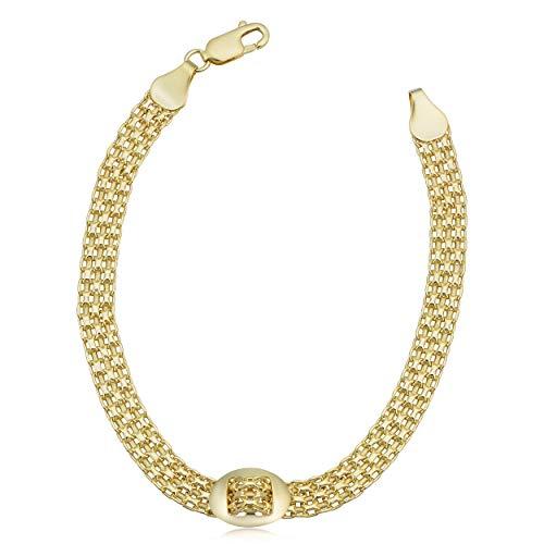14k Yellow Gold Bismark Buckle Bracelet (7.5 inch) ()