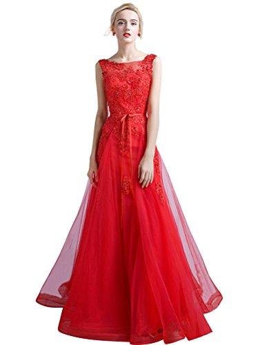 Langes Spitze A Damen Hochzeit Linie Baby Abendkleid Tüll für Perlen Blue axIaXqU