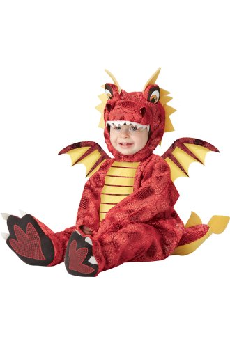 California Costumes Adorable Dragon Infant, Red/Yellow, (Adorable Toddler Halloween Costumes)