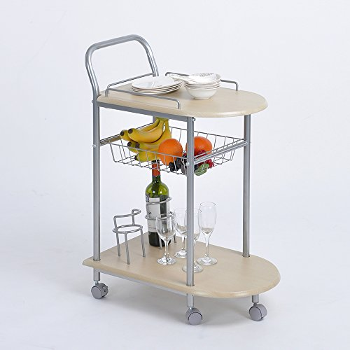 Serving Cart Furniturer Rolling Durable Mobile Metal Kitchen Trolley Cart Dining Storage Stand
