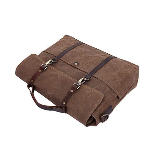 Men's Case Computer Document Vintage inch Messenger 15 S Bag Size Black 6 color Tote Brown Rxf dvqT1wd