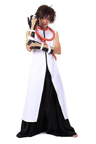 [De-Cos Bleach Arrancar Commander Tousen Kaname Outfit 2nd Set Set] (Kaname Tousen Costume)