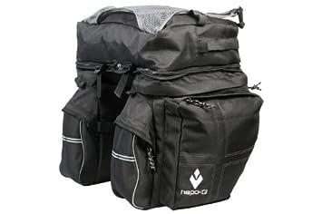 Hapo-G - Alforjas traseras para bicicleta (3 compartimentos) negro ...