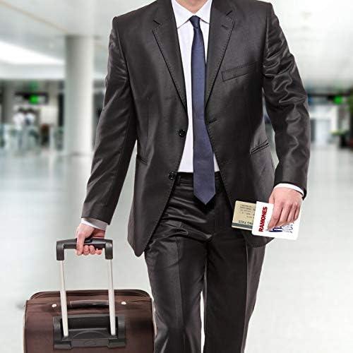 ロック RAMONES パスポートケース メンズ 男女兼用 パスポートカバー パスポート用カバー パスポートバッグ 小型 携帯便利 シンプル ポーチ 5.5インチ高級PUレザー 家族 国内海外旅行用品