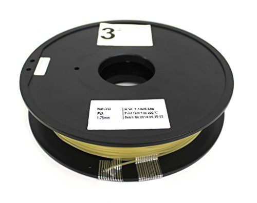 3rDment Natural 3D Printer Filaments - 1 75 mm PVA - Net Weight