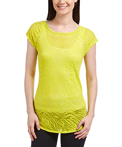 Katie K. Active Workout Open Back Tee Tops - Signature Ruched Shirttail Hem Tee - XL, Citrus Zebra - Also in Plus Sizes - from Featured on Nbc's The Biggest ()