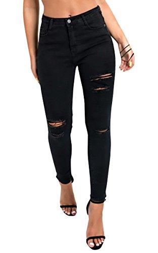 Ikrush Black Miyah Womens Rise Jeans Skinny Dchir High pnpOqwrFx