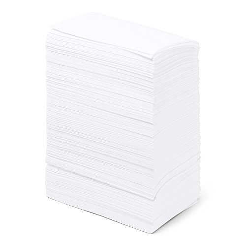 """Dinner Napkins Paper Bulk 2-Ply - 3000 Count - 15"""" x 17"""" - White - Disposable - Embossed Pattern - Commercial or Business Use - Restaurants, Bars, Corporate, Catered Events, Party - Paterson Paper"""