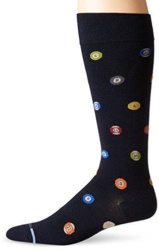 Dr. Motion Men's Dr.Motion Pool Ball Compression Knee Sock, Black, Sock Size:10-13/Shoe Size: 6-12 (Pools Motion)