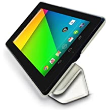 Google Nexus 7 2 (2013) Multi-Angle Slim 'Frameless' Case with Auto Sleep Wake Sensor by LuvTab® (White)