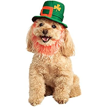 Rubies Costume Company St. Patty's Day Pet Costume Hat with Beard, Small/Medium