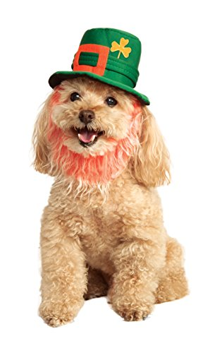 Rubies Costume Company St. Patty's Day Pet Costume Hat with Beard, - Patrick Mall