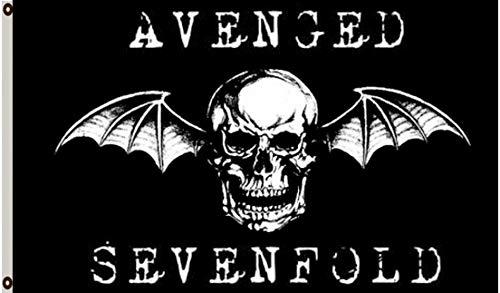 Astany Avenged Sevenfold Death Bat Flag 3X5FT Banner (Flag Sevenfold Avenged Poster)