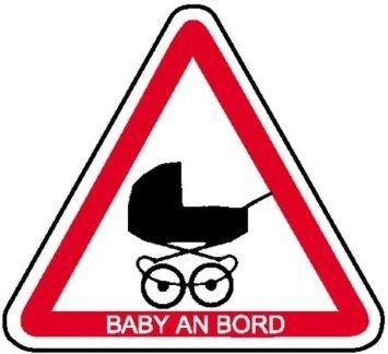 INDIGOS UG - Hinweisschild für Kraftfahrzeuge Baby an Bord Weich-PVC-Folie, selbstklebend, bedruckt Größe 20, 00 cm