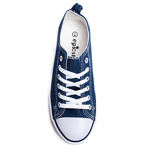 Lace Low up Cap Canvas Women Sneakers for Cut Toe Casual Sneaker Low Top Fashion Girls Denim Flat Shoes qnYUFR