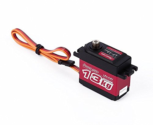 RCRunning PowerHD LF-13MG Digital RC Servo, High Torque Motor 13kg·cm Metal Gear Control Angle 180°Fast Control Steering, Upgrade for RC and Robotic by -