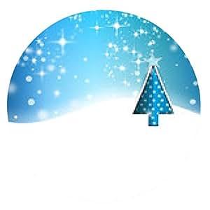 alfombrilla de ratón fondo de la navidad - ronda - 20cm