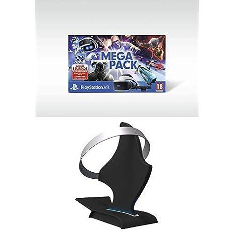 Mega Pack VR (PS4) + Bigben Soporte PS VR con Licencia Oficial (PS4