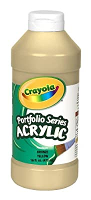 Crayola Portfolio Series 16-Ounce Acrylic Paint Bronze, Yellow