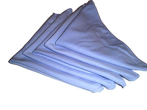 5 Pack of Large Microfiber Suede Cloths 12