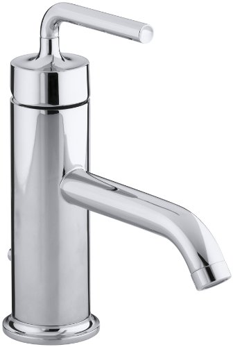 (KOHLER K-14402-4A-CP Purist Single Control Lavatory Faucet with Straight Lever Handle, Polished)