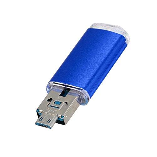 1 Pen Flash Drive - Gotd USB 2.0 1GB/2GB/4GB/8GB/16GB/32GB/64GB OTG Metal Flash Drive Memory Stick Storage Pen Disk Digital U Disk (Blue, 16GB)