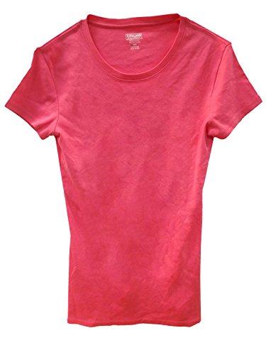 - Kirkland Signature Ladies Premium 100% Pima Cotton Crew Neck T-Shirt (M, Coral)