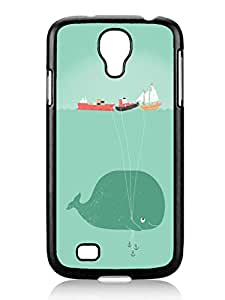 Customized Design Whale Balloons Cute Samsung Galaxy S4 I9500 TPU Black Phone Case